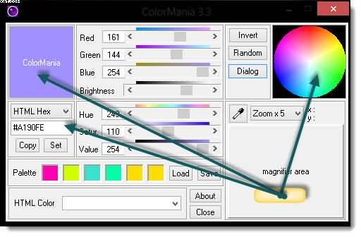 как узнать код цвета на картинке