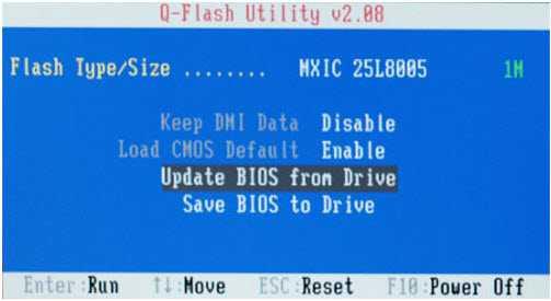 Q-Flash в материнской плате Gigabyte
