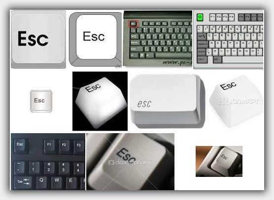 клавиши esc
