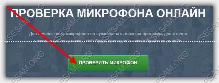 включить проверку работоспособности микрофона онлайн