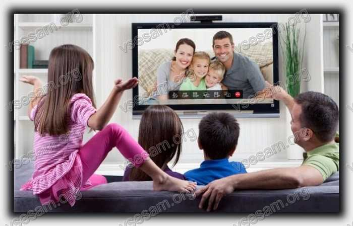Разговор по Skype на телевизоре