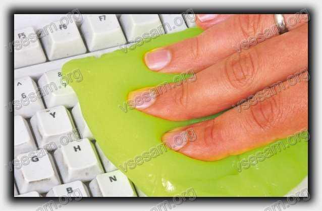 почистить клавиатуру в ноутбуке CyberClean