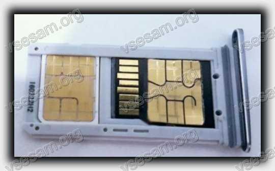 сим карта и MicroSD вместе