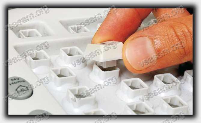 снять и почистить клавишу в ноутбуке hp pavilion