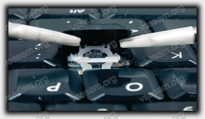 снять клавишу в ноутбуке dell в домашних условиях