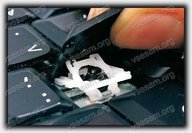 снять кнопку в ноутбуке packard bell