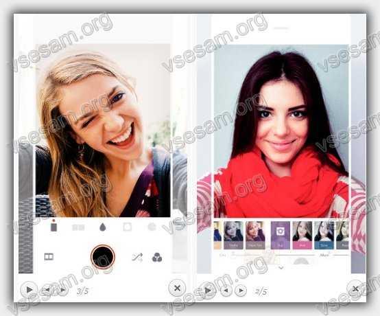 приложение улучшающее камеру на андроид смартфоне Retrica