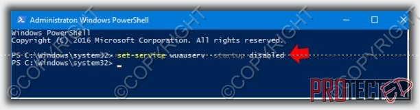 командная строка отключить проверку update