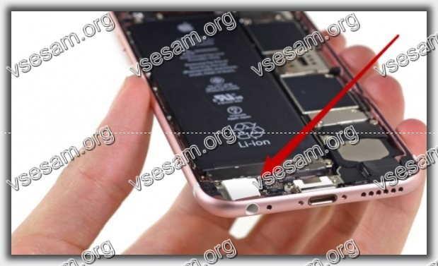 левый динамик в iphone 6 s