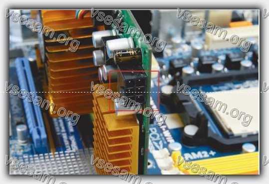 подключить кабель PCI Express