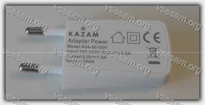адаптер для зарядки смартфона xiaomi redmi