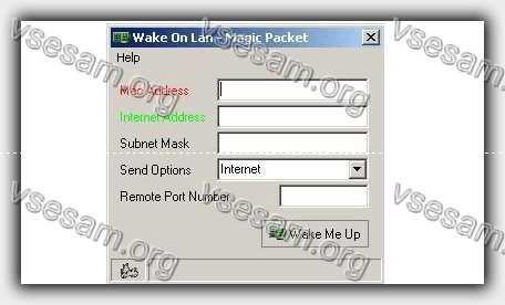 перезагрузить пк через Wake-on-LAN