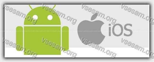 андроид и айфон логотипы