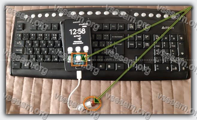 управлять смартфоном через USB