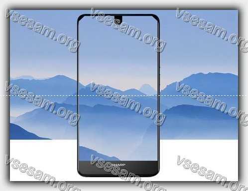безрамочный смартфон Sharp AQUOS S2