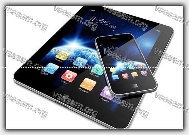Телефон и планшет леново