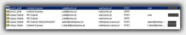 извлечение данных на mail passview portable