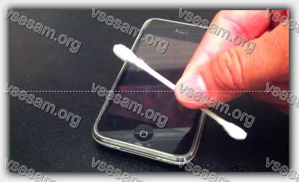 палочка почистить решетку смартфона