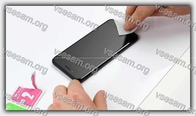протереть экран смартфона