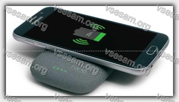 Телефон и беспроводное зарядное