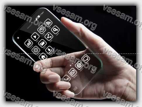 телефон с прозрачным корпусом