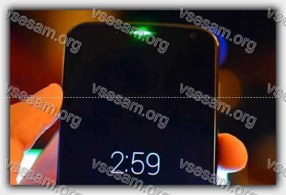 изменить цвет индикатора на смартфоне