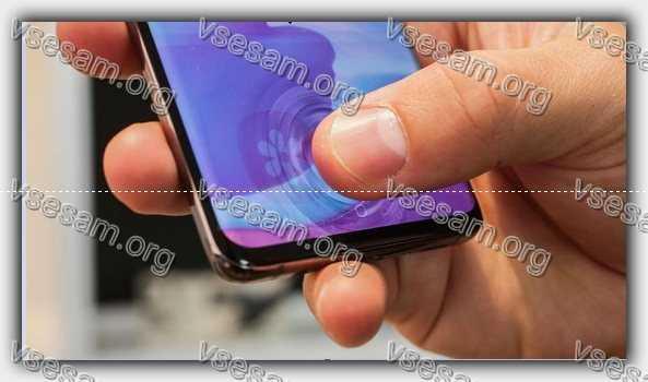 где находится сканер отпечаток пальца на а50