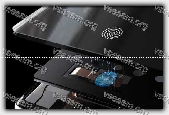 разобранный сенсорный датчик