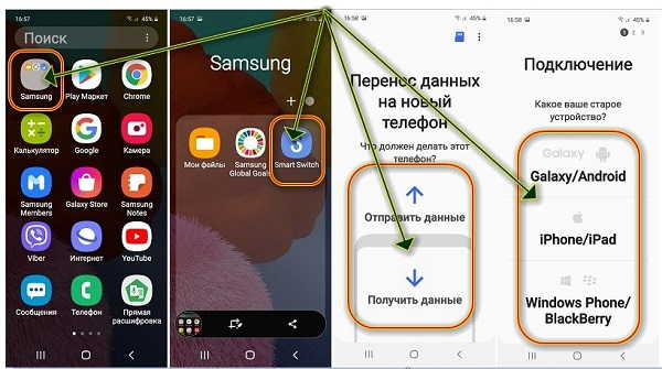 Как перенести данные на телефон самсунг а51