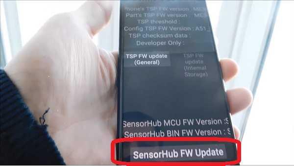 SensorHub FW Update
