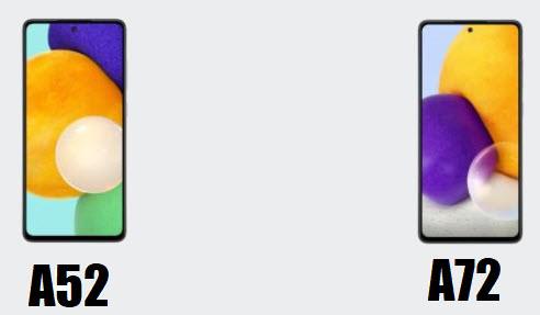 самсунг а52 5G и а72 5G