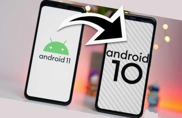 откатить android 11 android 10