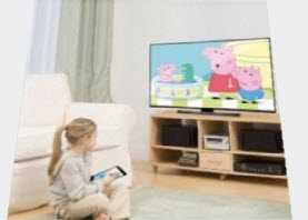 транслировать на телевизор без wifi